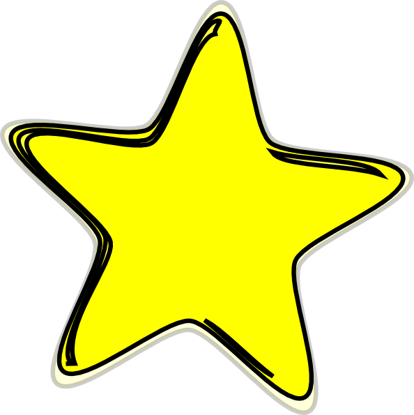 594x595 Free Yellow Stars Clipart Image