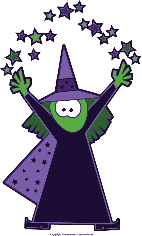 480x797 Halloween Witch Magic Stars Clip Art Image