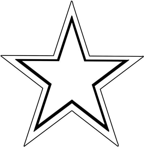 587x600 Image Of Star Clipart Black And White