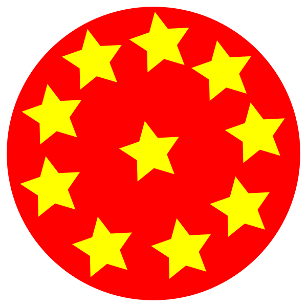 600x600 Red Circle With Stars Clip Art Free Vector 4vector