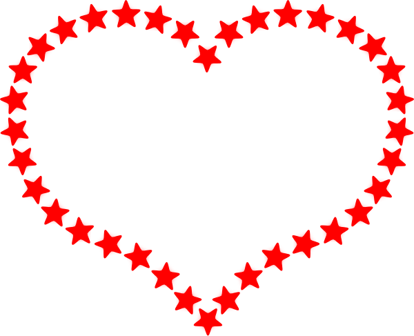 600x487 Red Star Outlined Heart Clip Art