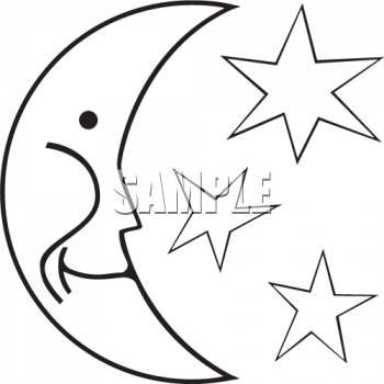 350x350 Sun And Moon Clipart Black And White