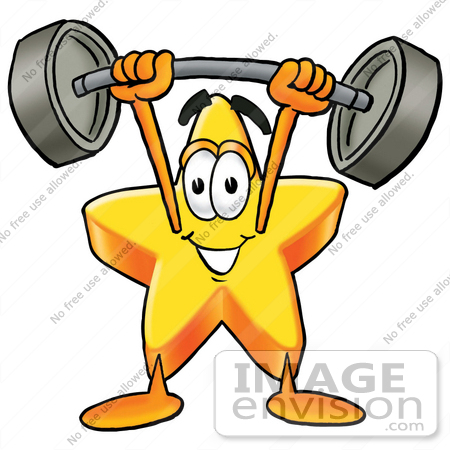 450x450 Cliprt Graphic Of Yellow Star Cartoon Character Holding