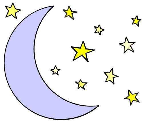 500x424 Evening Moon And Star Clip Art Cliparts