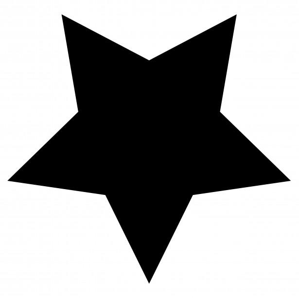 615x613 Free Black Stars Clipart Image