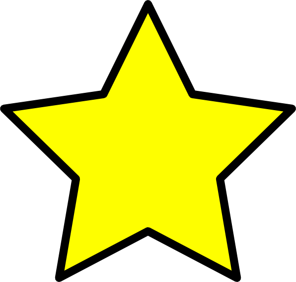 600x571 Free Yellow Stars Clipart Image
