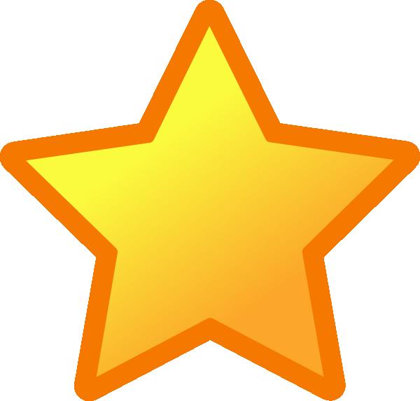 600x573 Orange Star Clipart