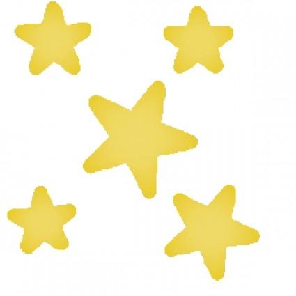 425x425 5 Black Stars Clipart
