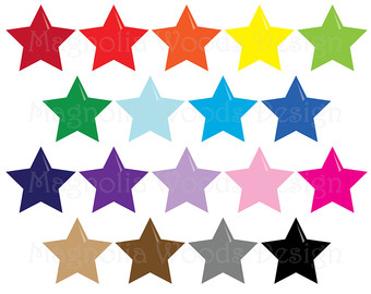 340x270 Star Clip Art Polka Dot Stars Clip Art Rainbow Star Clip