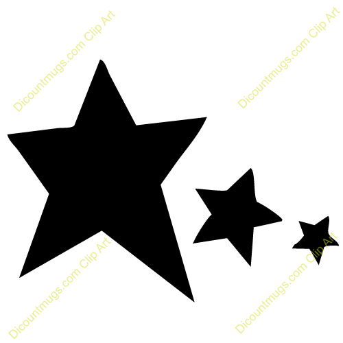 500x500 Star Clipart Black And White