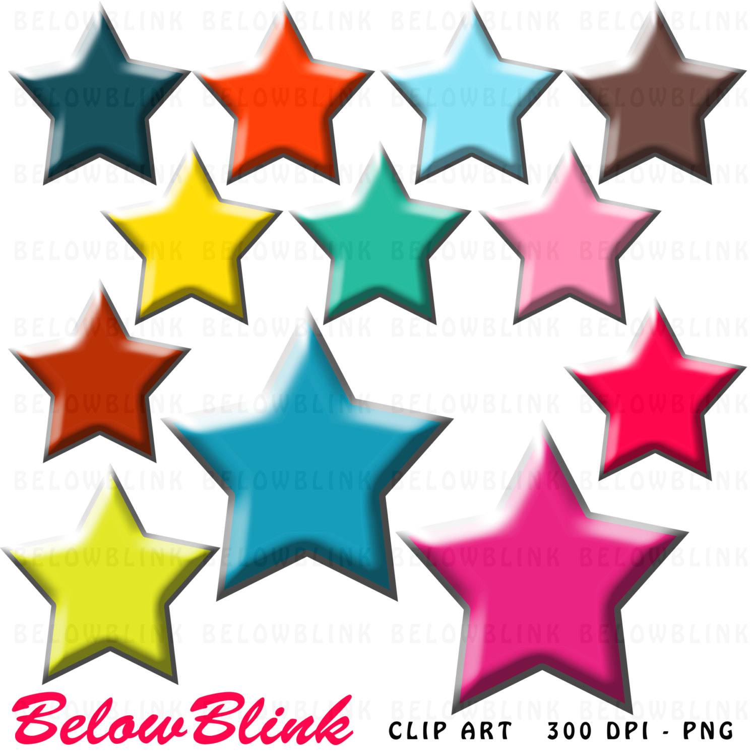 1500x1500 Stars And Numbers Clipart, Numbers Clipart, Commercial Use, Vector
