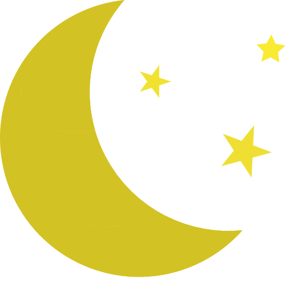 600x566 Yellow Moon And Stars Clipart