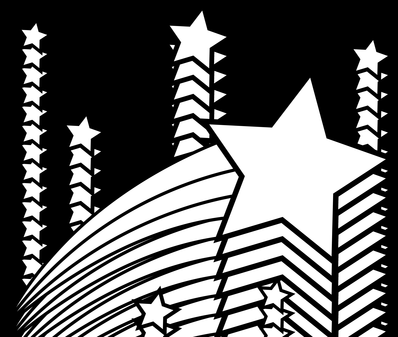 5221x4421 Black And White Star Clip Art