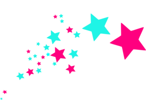 298x204 Colorful Shooting Stars Clipart
