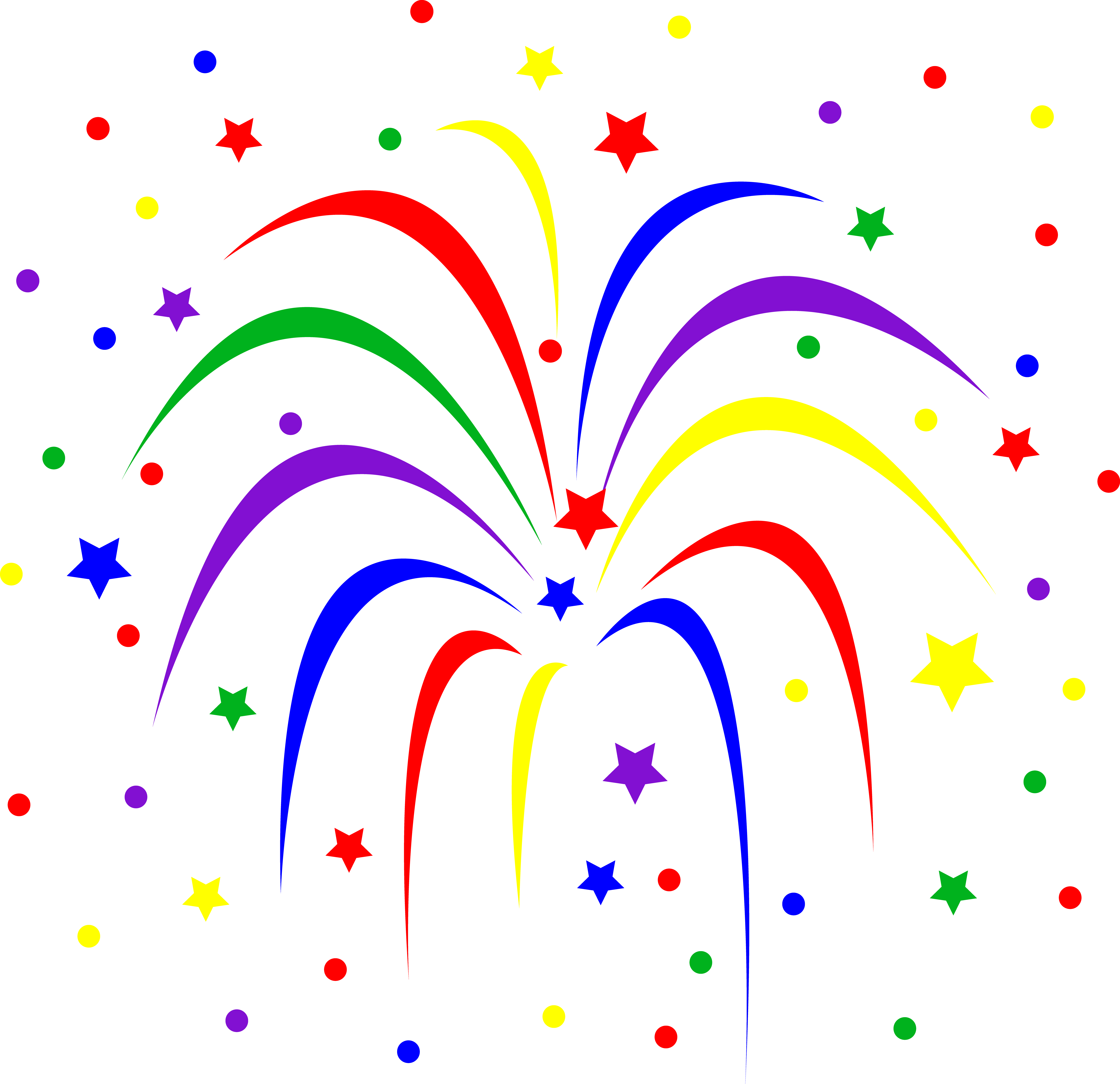 7175x6943 Fireworks Clipart Transparent Clipart Panda