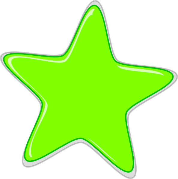 594x595 Green Star Edited2 Clip Art