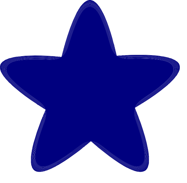 600x587 Rounded Star Clipart