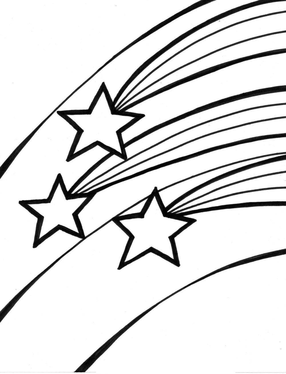 1000x1308 Falling Stars Clipart Draw