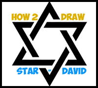 200x179 How to Draw Stars amp The Star of David with Easy Step by Step