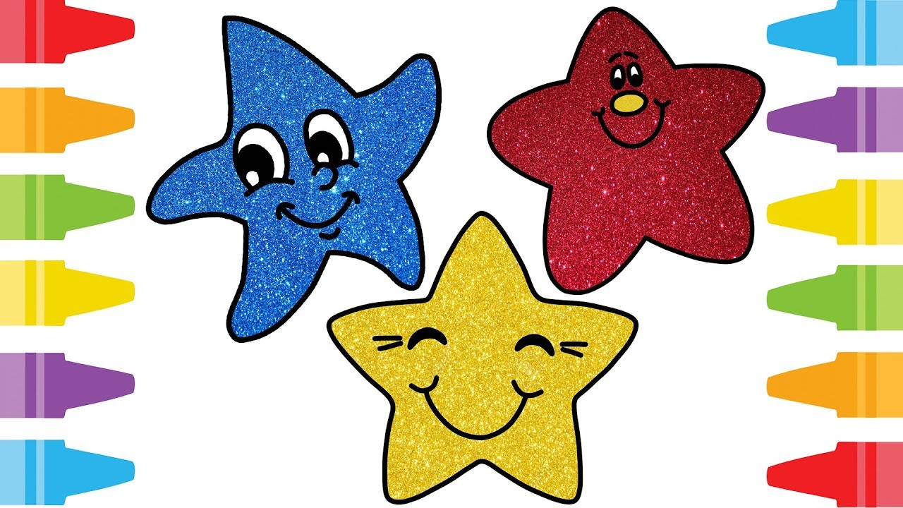 1280x720 Learn How to Draw Smile Little Stars Drawing and Coloring Pages