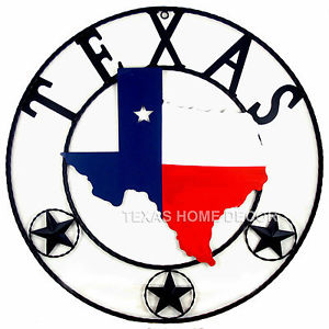 300x300 24 Texas Map Wall Decor Texas Flag Outline Plaque With Circle