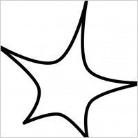 200x200 Nine Point Star Clipart