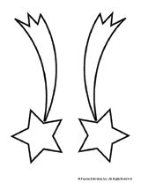 160x207 Shooting Star Coloring Page