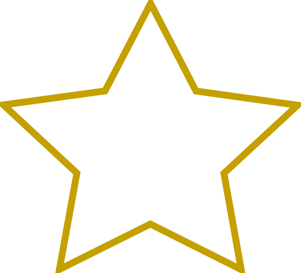 600x545 Stars Clipart Template