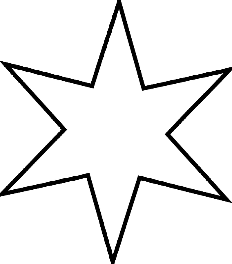 800x909 Black, Large, Outline, Star, White, Stars, Free, Shape