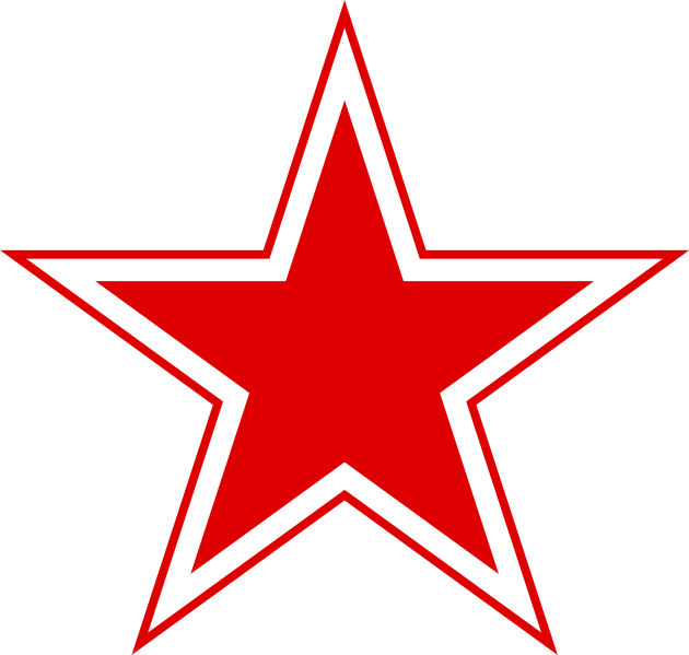630x599 Stars Outline Template Fileurss Russian Aviation Red Star.svg