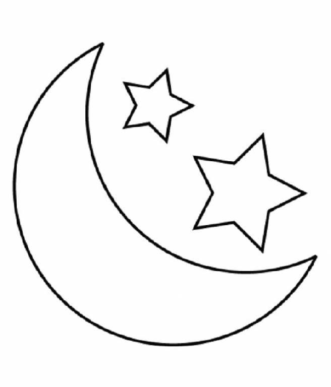 656x768 Child Moon And Stars Coloring Pages Printable Nappy Time