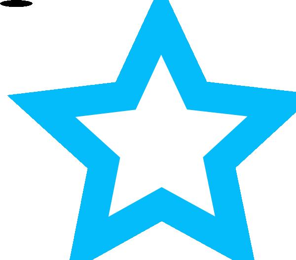 600x527 Blue Star Outline Clip Art
