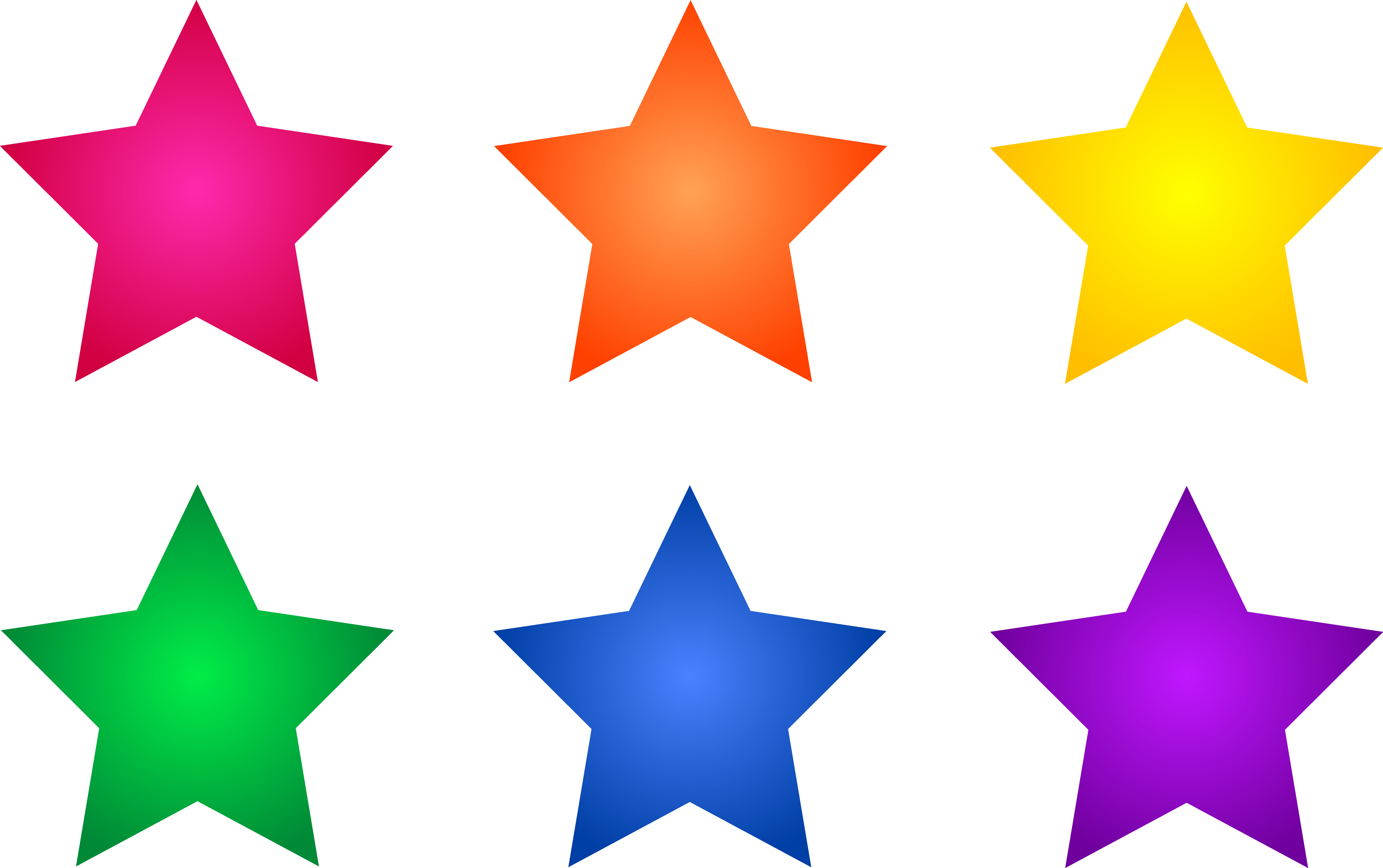 5000x3139 Falling Stars Clipart Colourful Star