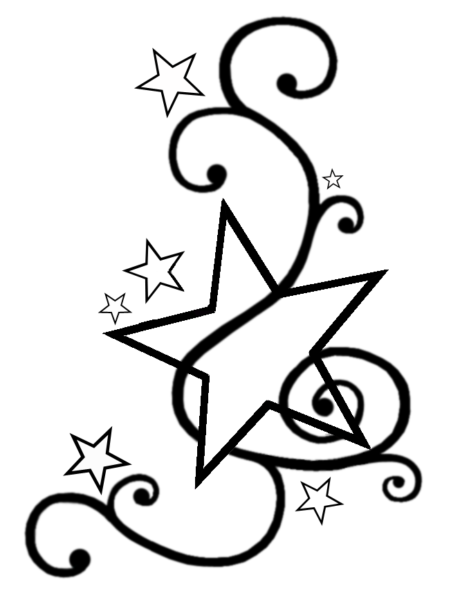 652x850 Outline Star Tattoo Design Ideas