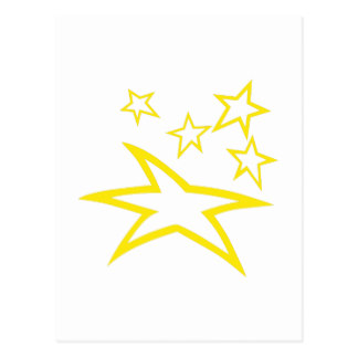 324x324 Star Outlines Postcards Zazzle