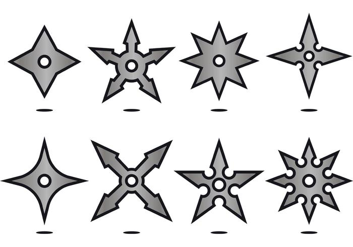 700x490 Throwing Star Free Vector Art