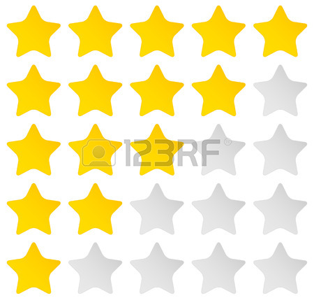 450x436 Vector Illustration Of Star Rating System With 5 Stars From Zero