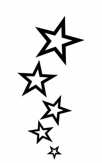 399x640 9 Best Star Tattoo Stencils Images Stars, Bats