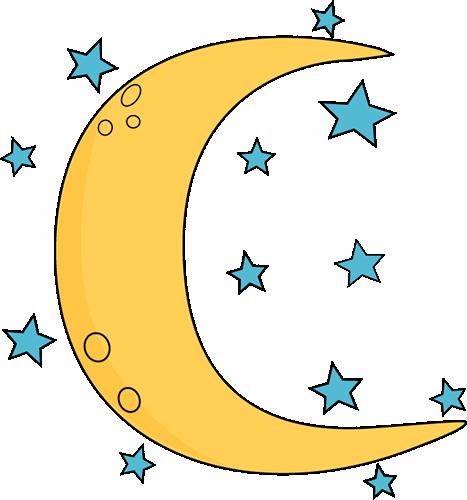 467x500 Crescent Moon And Stars Clip Art