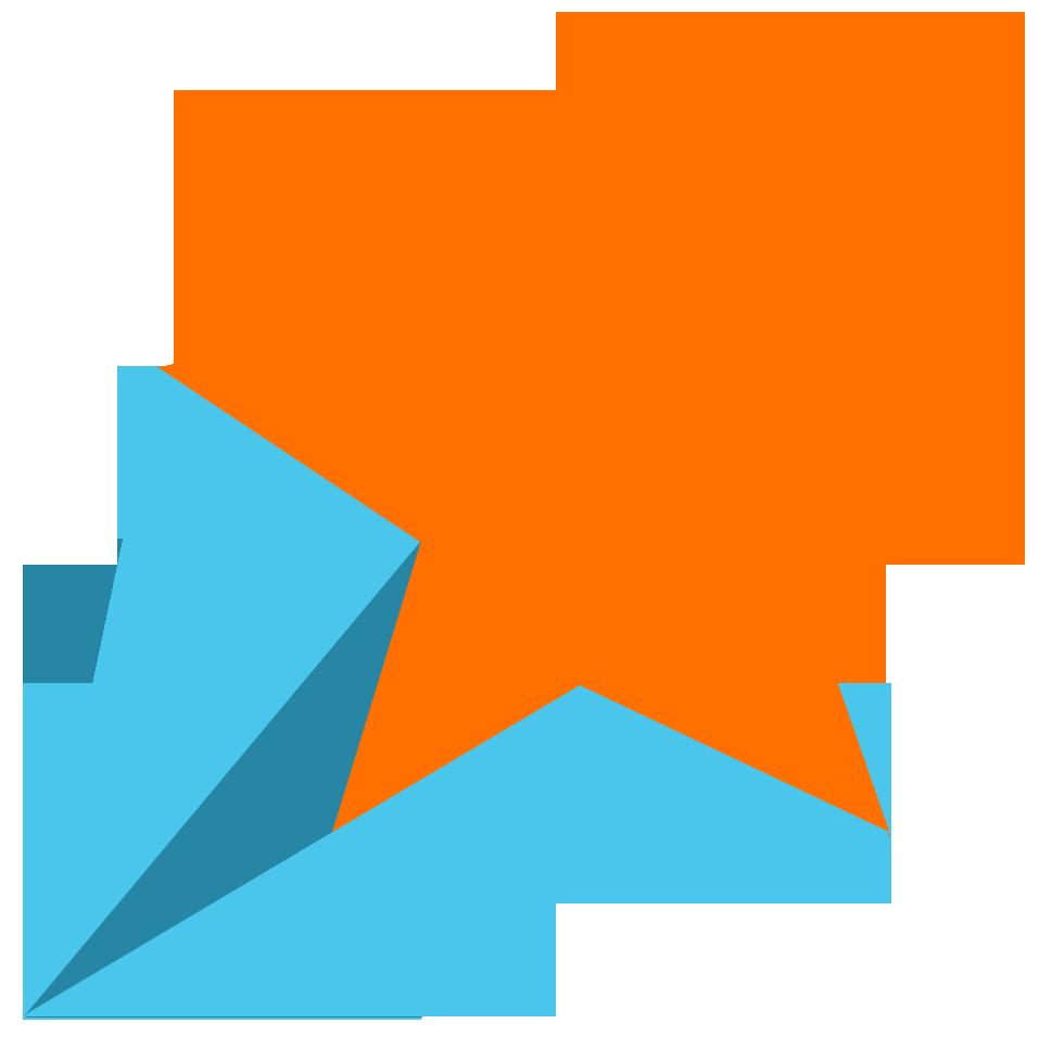 969x966 Orange Star Clipart