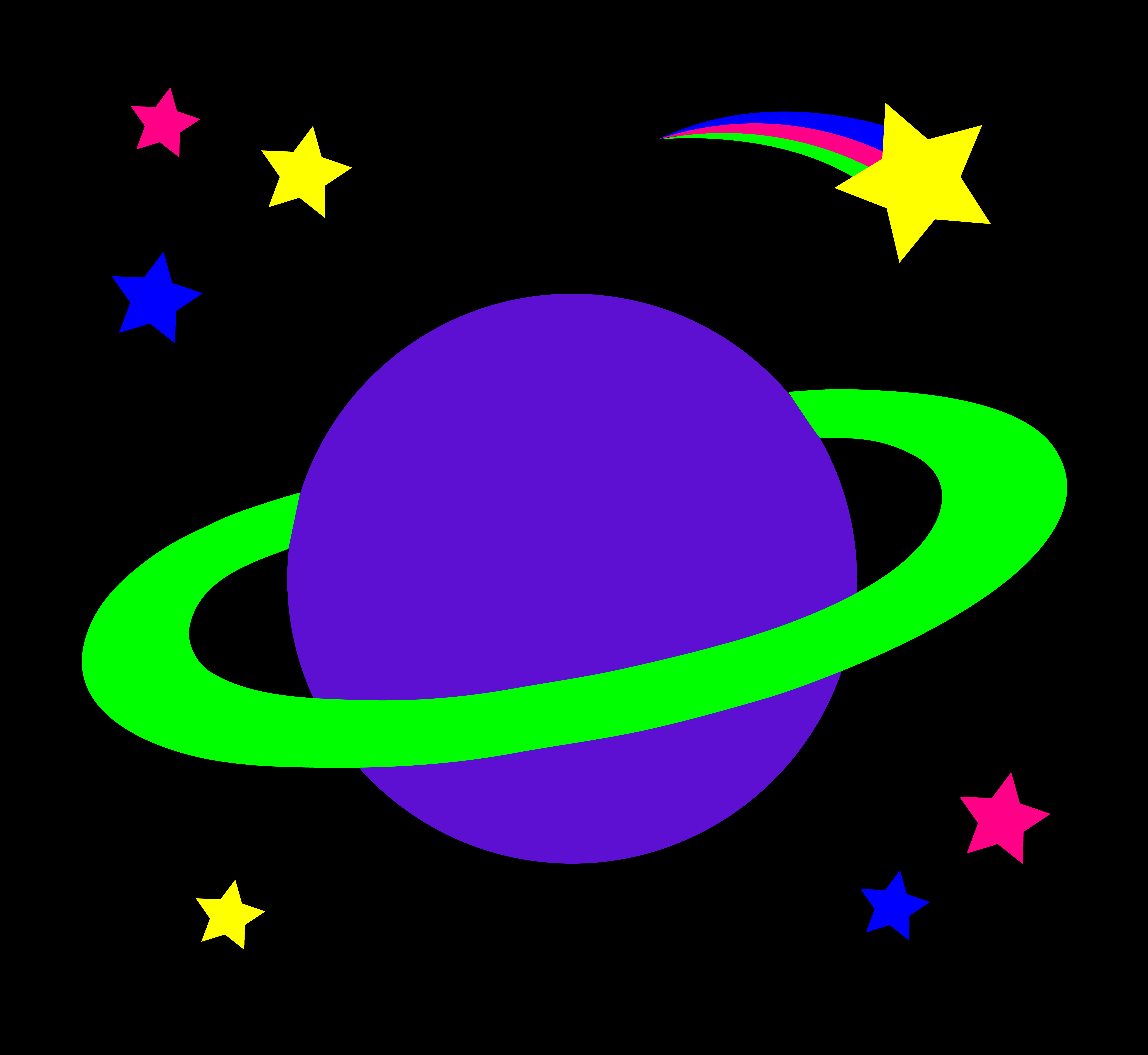 7074x6499 Shooting Star Clipart Outer Space