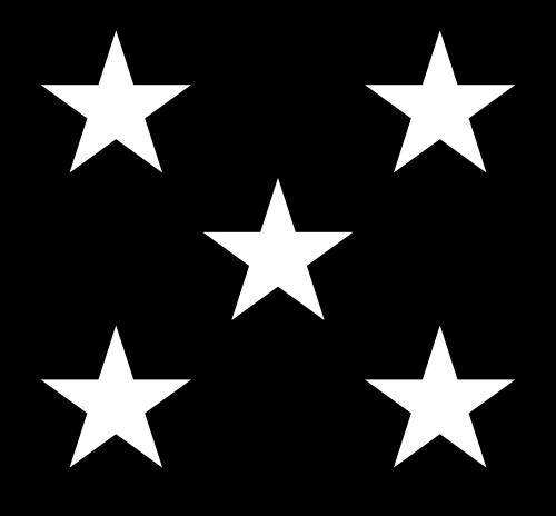 500x464 5 Black Stars Clipart