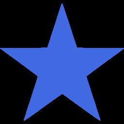 256x256 Stars Clipart Royal Blue