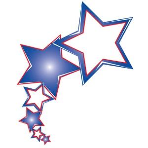 300x300 White Blue Stars Clipart