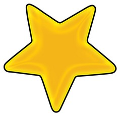 238x230 Yellow Star With Black Clipart Panda