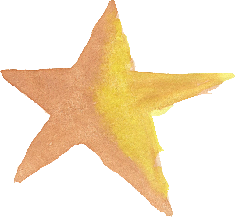 771x713 15 Watercolor Star (Png Transparent)