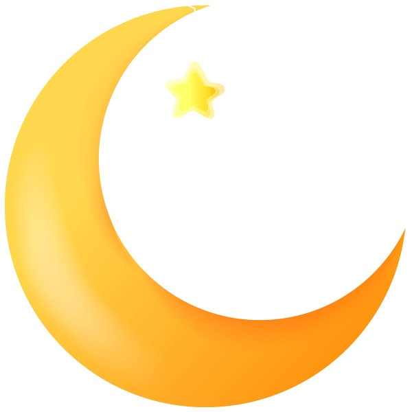 600x600 Black Stars And Moon Clipart