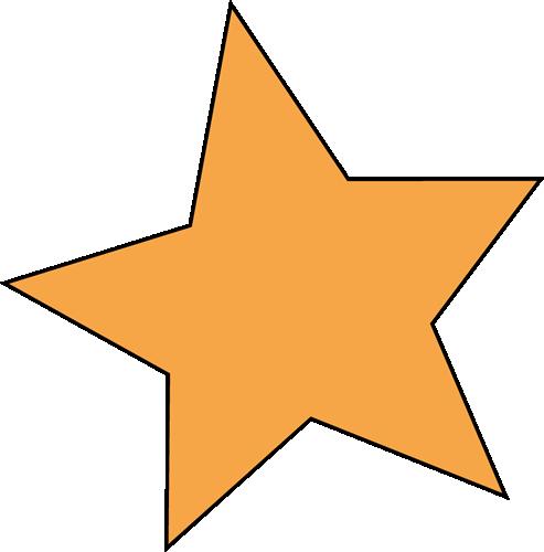 493x500 Orange Star Clip Art Image Clipart Panda