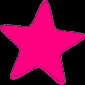 297x298 Pink Star Clip Art