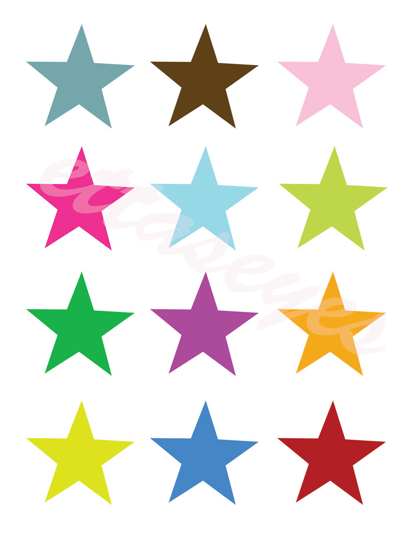 850x1100 Pink Stars Clipart On Transparent Background